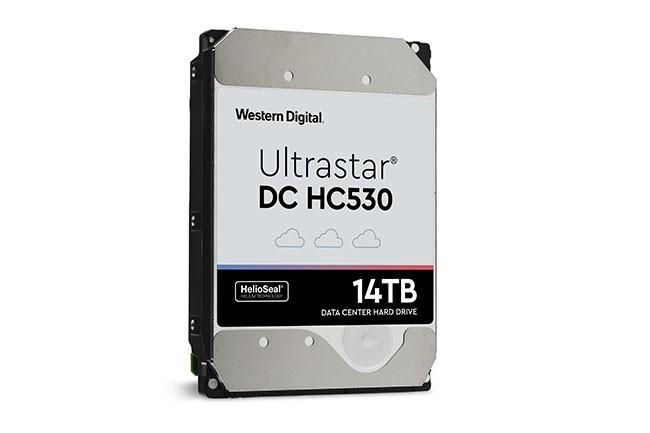 Le HDD Ultrastar DC HC530 est disponible avec des interfaces SAS (12 Gbit/s) ou SATA (6 Gbit/s). (Crédit : Western Digital)