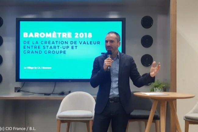 Pour Fabrice Marsella, «maire» (directeur) du Village by CA, cet incubateur «réalise un trait d'union entre les start-ups et les grands groupes pratiquant l'open-innovation».