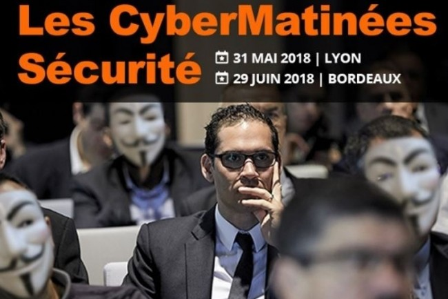 Le Monde Informatique et CIO organisent deux Matinées Cybersécurité à Lyon et Bordeaux les 31 mai et 29 juin prochains. (crédit : D.R.)