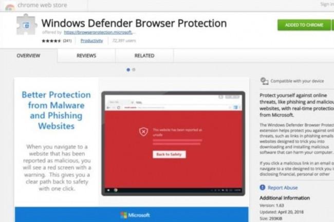 Microsoft offre désormais aux utilisateurs de Chrome sa technologie SmartScreen anti-phishing et anti-malware. « Un choix de self-défense », selon un analyste. (Crédit : Microsoft)