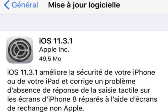 Dans son annonce de mise à jour, Apple a ainsi fortement conseillé de faire réparer les terminaux défectueux dans ses centres agréés. (Crédit : Apple)
