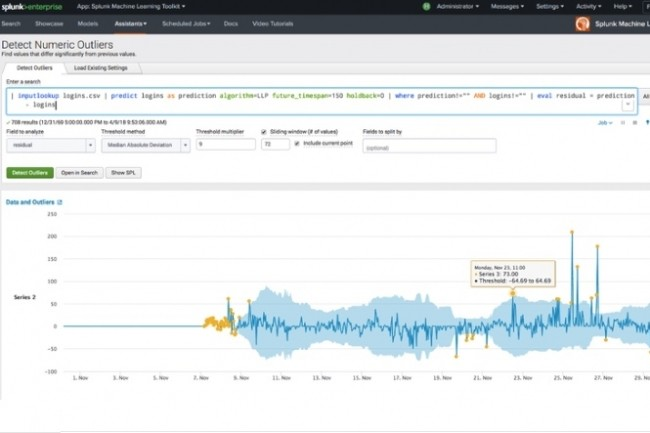 La version 7.1 de Splunk Enterprise arrive avec des fonctions plus avancées en machine learning. (Crédit Splunk)