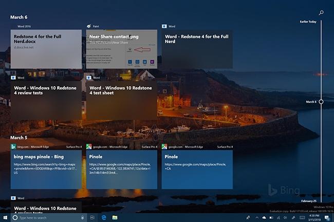 Timeline fait partie de la mise à jour de Windows du 10 avril 2018, connue aussi sous le nom de Redstone 4. (Crédit : IDG)