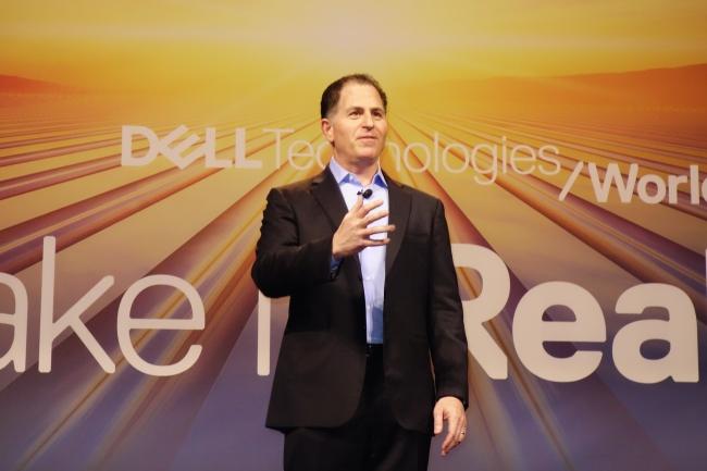 Michael Dell, CEO de Dell qu'il a fondé il y a 34 ans, lors d'une session de questions/réponses sur Dell Technologies World 2018 à Las Vegas le 30 avril. (Crédit : MG)