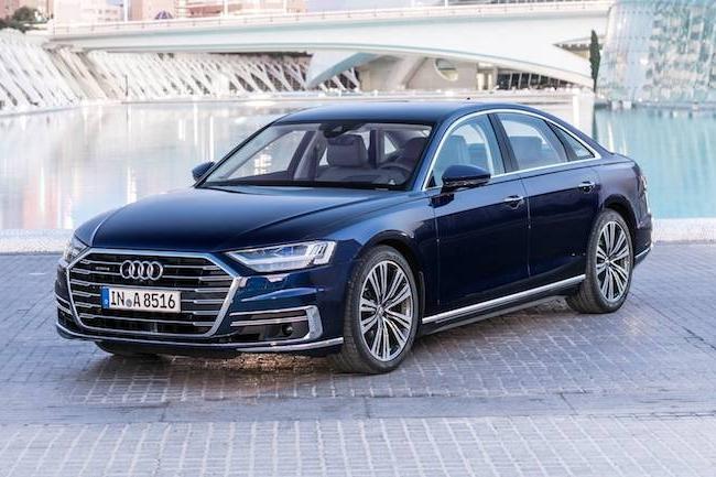 La dernière Audi A8 est la première à envoyer ses données vers la plateforme de traitement Hadoop du constructeur allemand. (Crédit Audi)