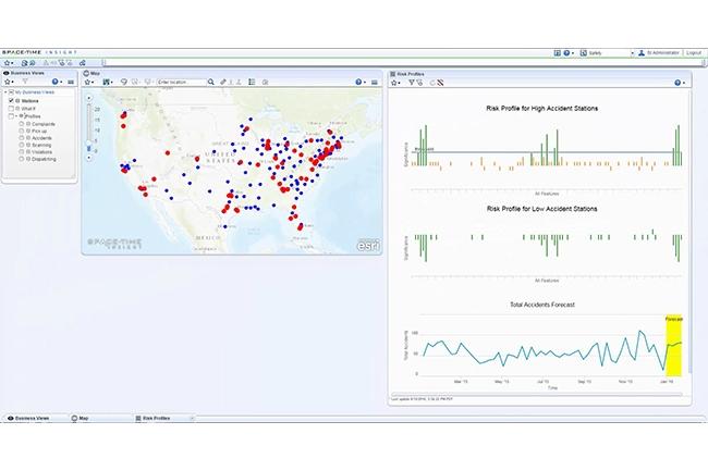 SpaceTime Insight développe des algorithmes de machine learning pour des industries de l'aviation, la supply chain, la sécurité, etc. (Crédit : SpaceTime Insight)