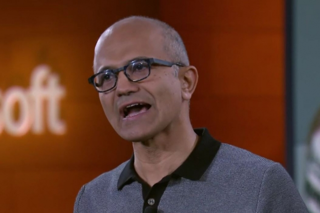 « Nous avons besoin d'un système d'exploitation, nous avons besoin d'une plate-forme, indépendante du matériel, sur laquelle sera défini un modèle d'application », a expliqué lors de la Build 2018 le CEO de Microsoft Satya Nadella. (crédit : Melissa Riofrio/PCWorld)