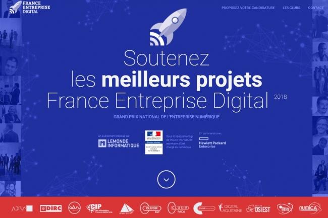 Venez voter pour les meilleurs projets IT et numériques de France dans les catégories Start-up et Transformation de France Entreprise Digital 2018. (crédit : D.R.)