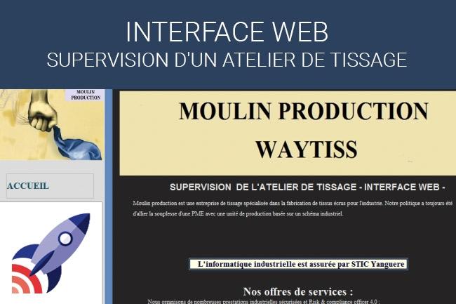 France Entreprise Digital : Découvrez aujourd'hui Interface Web Supervision d'un atelier de tissage