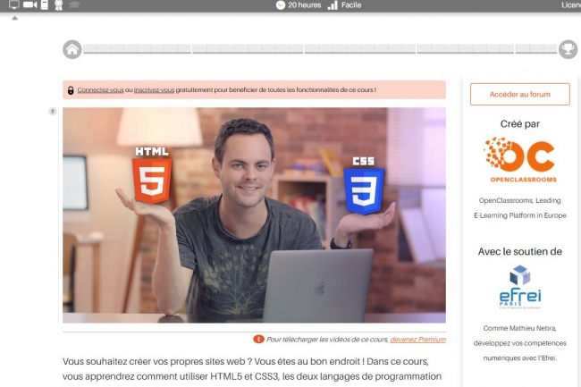 Selon OpenClassrooms, près de 2,5 millions d'utilisateurs recourent à ses formations en ligne chaque mois. (crédit : D.R.)