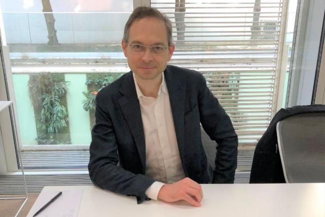 Depuis l'introduction réussie d'Appian au Nasdaq, son fondateur et CEO Matt Calkins se déplace en Europe toutes les six semaines. Ci-dessus, à Paris le 16 mai 2018. (Crédit : Appian)