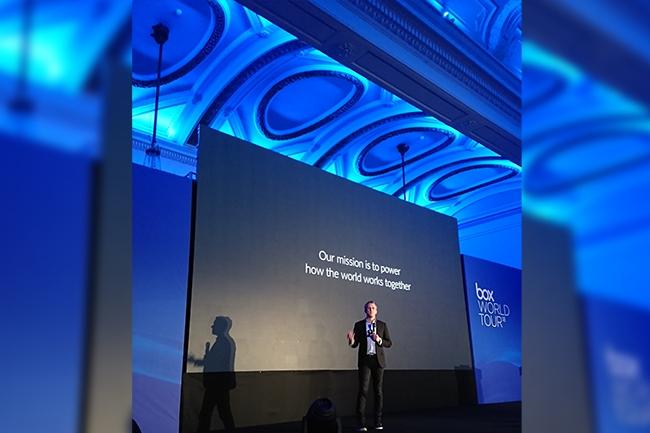 Selon Aaron Levie, CEO de Box, le poste de travail va autant évoluer dans les cinq prochaines années qu'il ne l'a fait depuis 25 ans. (Crédit : Nicolas Certes)