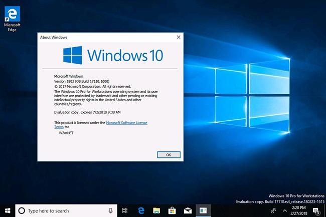Microsoft a déclaré que l'assistance pour la version 1803, sortie le 30 avril, ne durerait que 18 mois, sans possibilité d'extension. (Crédit : Microsoft)