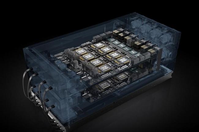 La plate-forme HGX-2 de Nvidia est un socle de base autour duquel les fournisseurs de serveurspeuvent construire des systèmes adaptés aux différents besoins d'intelligence artificielle et de calcul HPC. (Crédit: Nvidia)