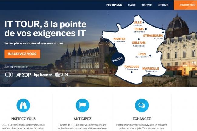 L'IT Tour, le tour de France de la rédaction du Monde Informatique, revient à votre rencontre pour la 7e année consécutive. (crédit : LMI)