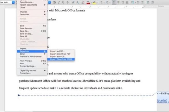 Les efforts réalisés par LibreOffice sur l'interface et la prise en mains peuvent inciter des entreprises à basculer vers la bureautique open source. (crédit : LibeOffice)