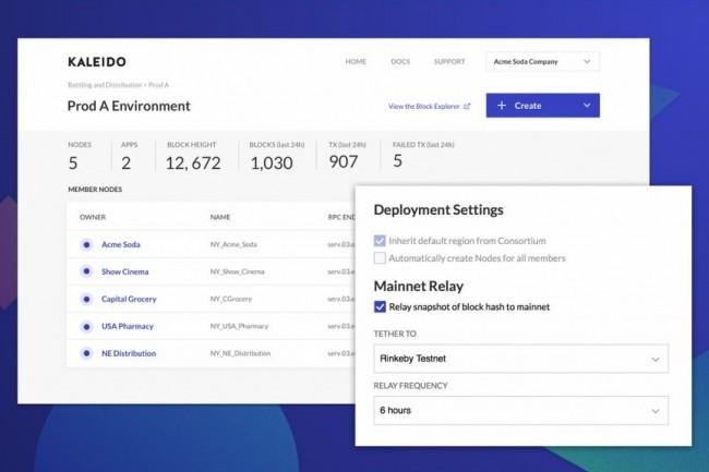 La plateforme Kaleido proposée par AWS à travers son partenaire ConsenSys a été conçue pour accélérer et simplifier l'utilisation de blockchain dans l'entreprise. (crédit : ConSensys)