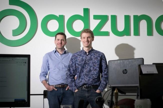 Le site de recrutement anglo-saxon Adzuna co-fondé par Andrew Hunter et Doug Monr réunit des annonces issues de plus de 270 sites partenaires, généralistes ou spécialisés. Crédit. D.R.