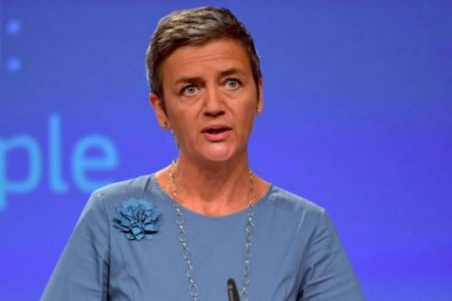 Margrethe Vestager, commissaire à la concurrence de l'Union européenne, pourrait annonce une amende record contre Google le mois prochain. (Crédit C.E.)