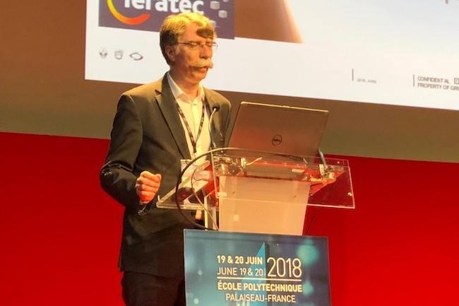 Rémi Bastien, directeur de la prospective automobile du groupe Renault, est intervenu lors du Forum Teratec pour dérouler le programme mobilité du constructeur français. (Crédit S.L.)