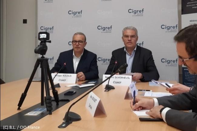 Philippe Rouaud (à gauche) et Bernard Duverneuil (à droite, président du Cigref) ont témoigné de la colère des grandes entreprises françaises contre les fournisseurs IT.
