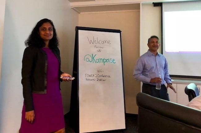 Krishna Subramanian, cofondatrice et COO, et Kumar K. Goswami, cofondateur et CEO, de Komprise se sont associés à IBM pour promouvoir leur solution. (Crédit S.L.)