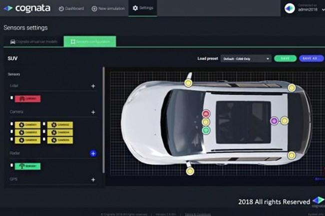 La plateforme développée par Cognata combine des algorithmes de deep learning à un outil de visualisation 3D pour simuler des milliers de scénarios de conduite autonome. (Crédit : Cognata)