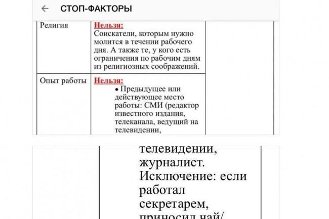 Parmi les documents Google Docs qui auraient été indexés par le moteur de recherche russe Yandex, on trouve notamment un fichier interne de Tinkoff Bank dans lequel est indiqué l'interdiction d'embaucher des candidats en fonction de leurs orientations sexuelles, races et professions. (crédit : D.R.)