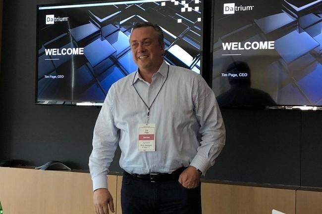 Ancien COO de VCE, Tim Page est aujourd'hui le CEO de Datrium. (Crédit S.L.)