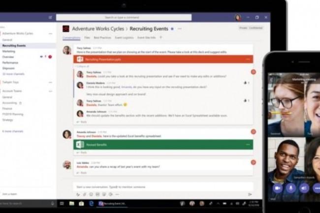 La version gratuite de Teams propose 10 Go de stockage de fichiers par équipe ainsi qu'un stockage additionnel de 2 Go par utilisateur, (crédit : Microsoft)