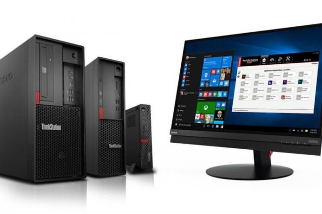 Suite à l'annonce des puces Xeon E-2100, Lenovo a dévoilé la famille ThinkStation P330. (Crédit Lenovo)
