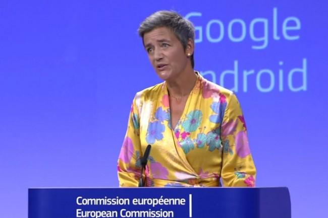 « Google a utilisé Android comme un moyen de cimenter la domination de son moteur de recherche », a fait savoir Margrethe Vestager, commissaire européenne à la concurrence, le 18 juillet 2018. (crédit : D.R.)