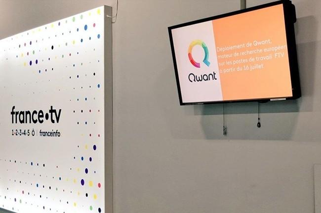 Qwant est désormais proposé par défaut aux utilisateurs des dizaines de milliers de postes de travail qui composent le parc de France Télévisions à Paris, en région et dans les DOM-TOM. (Crédit : Qwant)