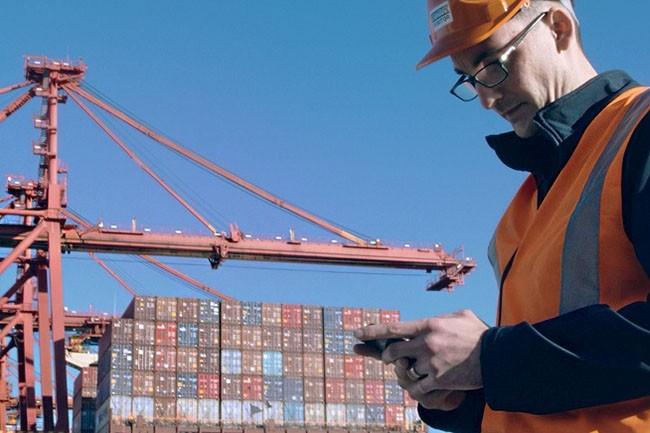 La cargaison d'amandes a pu être suivie informatiquement depuis son point de départ à Mildura (Australie) jusqu'à Habourg (Allemagne), grâce à la technologie blockchain, utilisée notamment par le manutentionnaire Patrick Terminals (Crédit : D.R.)