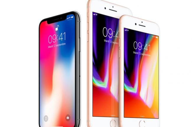 La hausse du prix de ses IPhone en particulier de l'IPhone X a permis � Apple de r�aliser l'un de ses meilleurs troisi�me trimestre. CR�dit. D.R