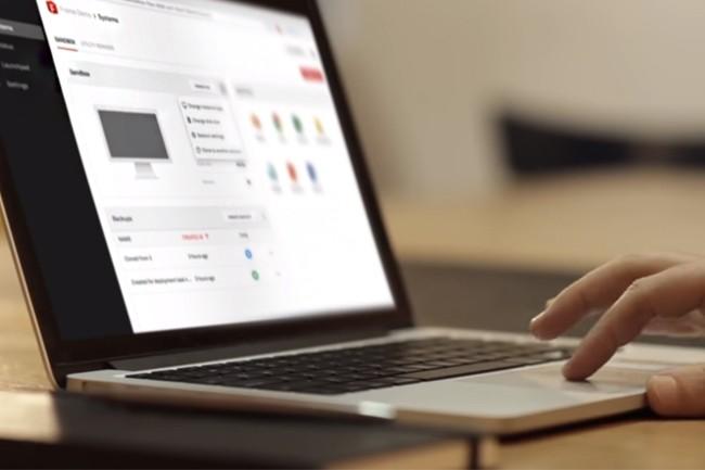 La plateforme de Frame permet également de mettre à jour et corriger l'utilisations des applications et PC en un seul clic. (Crédit : Nutanix)