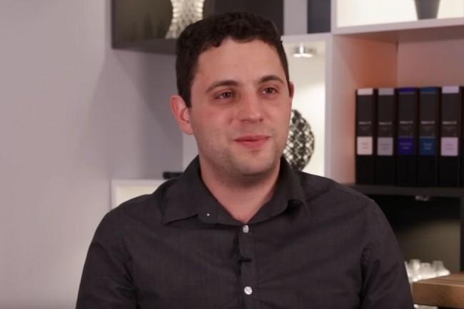 Le fabricant d'imprimantes 3D Formlabs a été créé en 2011 par Maxim Lobovsky, actuel CEO (ci-dessus en 2016) et Natan Linder, chairman. (source : Weforum.org)