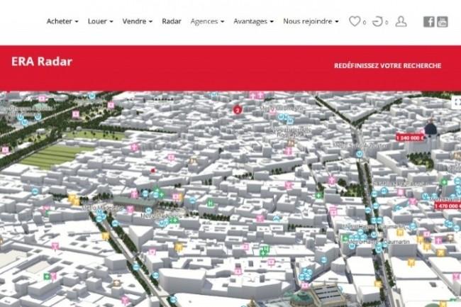 Era Immobilier propose de la cartographie 3D et des visites immersives. (Crédit : D.R.)