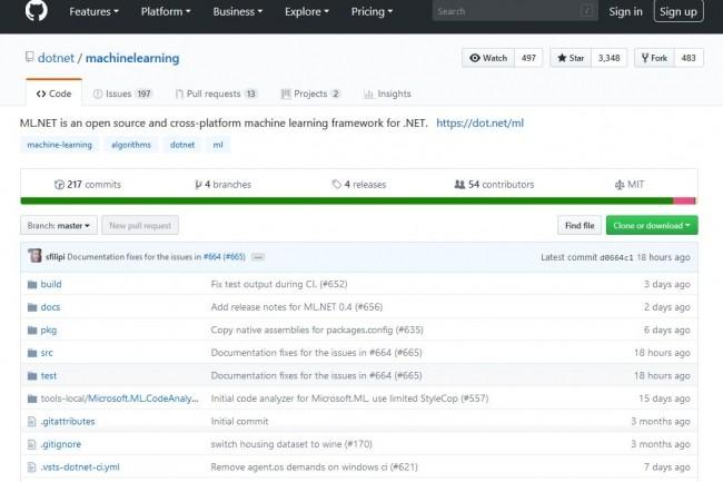 La version 0.4 du framework d'apprentissage ML.Net est téléchargeable sur GitHub.