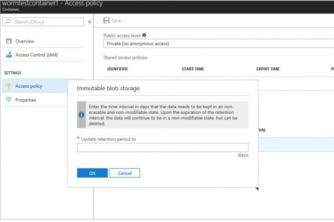 L'API Immutable Azure Blob storage proposée par Microsoft permet de créer et lire des fichiers dans le cloud, mais pas de les modifier ni de les supprimer. (Crédit : Microsoft)