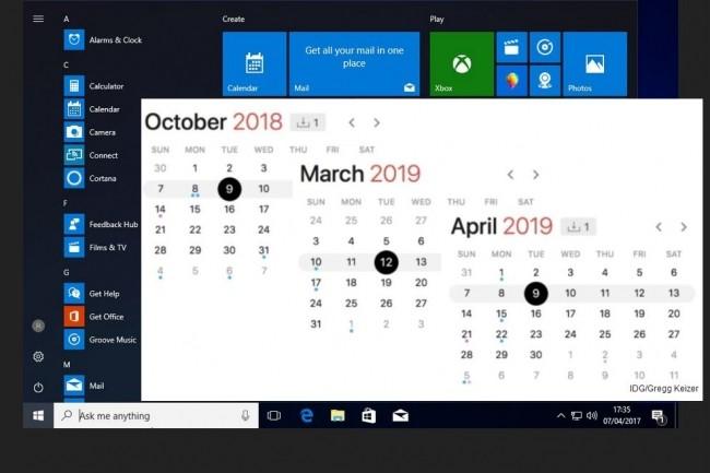 Le 9 octobre prochain sonnera le glas du support de Windows 10 version 1607, �galement d�nomm�e Anniversary Update, pour les utilisateurs de Windows 10 Enterprise et Windows 10 Education. Il faudra migrer vers une autre version : 1703, 1709 ou 1803. (Cr�dit : IDG)