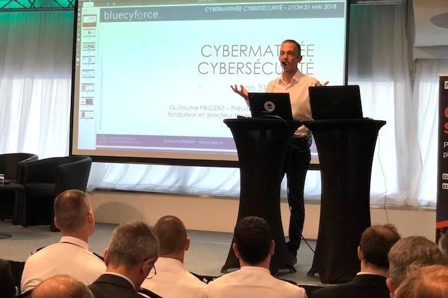 Guillaume Prigent, président de Diateam et directeur technique de bluecyforce interviendra, ainsi que Vincent Riou, directeur cybersécurité de CEIS et CEO de bluecyforce, pour une simulation de cyberattaque lors de l'IT Tour 2018. (crédit : SL)