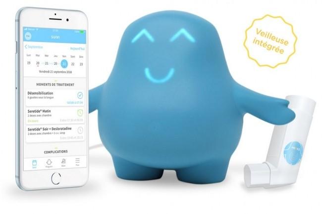 Meyko, un dispositif de rappel de traitement connecté adapté à l'enfant fait partie des start-ups qui rejoindront le Village Innovation e-Santé à Bordeaux. CRédit. D.R.