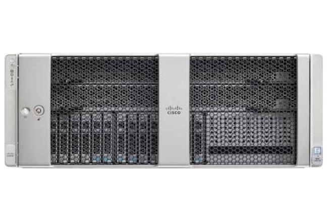 Dopé avec des accélérateurs GPU Nvidia Tesla V100-32G, le serveur Cisco UCS C480 ML M5 se destine au calcul intensif en IA et ML. (Crédit Cisco)