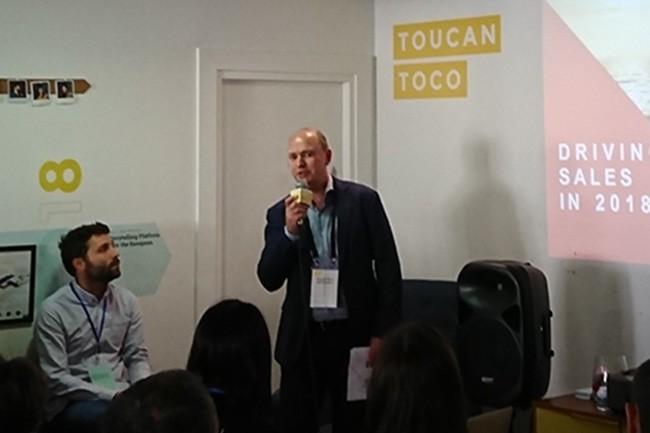 Directeur de la performance de l'activité de BNP Paribas Wealth management depuis neuf ans, Thierry Noël est venu présenter l'intégration de Toucan Toco dans les locaux de la start-up. (Crédit : Nicolas Certes)