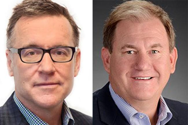 Matt Dircks (à gauche), CEO de Bomgar, prendra la direction de BeyondTrust, jusqu'ici dirigée par Kevin Hickey. (Crédit : Bomgar / BeyondTrust)