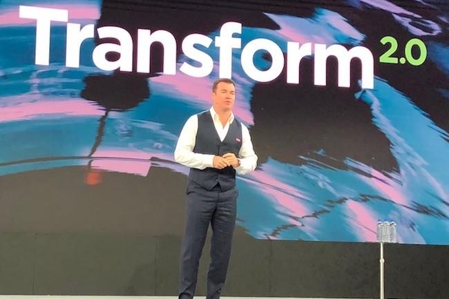 Rod Lappin, senior vice-président en charge des ventes et du marketing chez Lenovo, à New York pour la seconde édition de sa convention Transform. (Crédit S.L.)