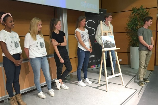 En remportant le concours de développement IA for Life, les étudiants de Skema et de Centrale Lille se sont démarqués sur un total de 950 participants. Crédit. D.R.