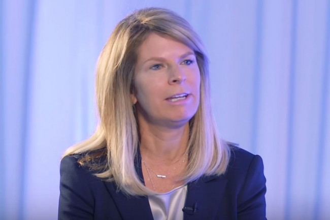 Nicole Eagan, CEO de Darktrace. (crédit : D.R.)