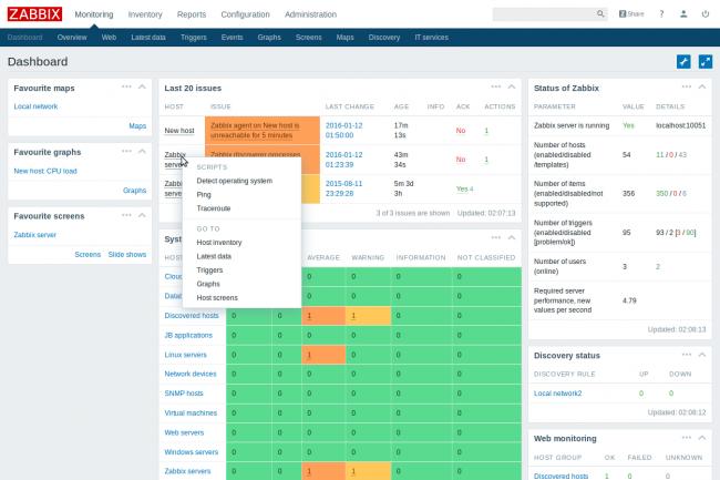 Une version cloud de Zabbix est en préparation, mais celle-ci n'était pas disponible pour le test. (Crédit Zabbix)